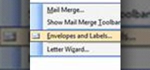 Make address labels in Microsoft Word