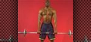 Exercise with the barbell upright row