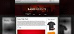 Use the Band Website Template for web design
