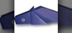 Origami a dolphin Japanese style