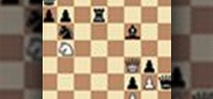 Smothermate the king in a complicated chess game