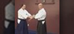Defend against the wrist grab with Aikido Ikkyo