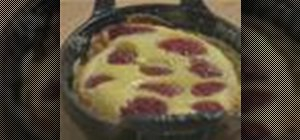 Bake a raspberry clafouti in a toaster oven