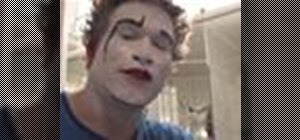 Apply clown makeup