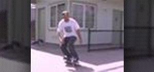 Do a backside noseblunt stall on a skateboard