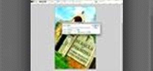 Work the warp tool in Photoshop CS3