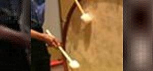 Play rolls on a concert bass drum