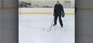 One foot stop on ice skates