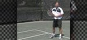 Return a serve in tennis