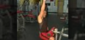 Execute unilateral pull downs for weight training