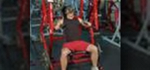 Execute an iso-lateral bench press for weight training