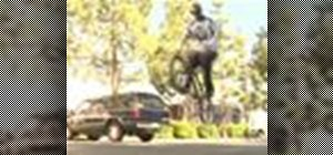Bunny hop on a BMX bike