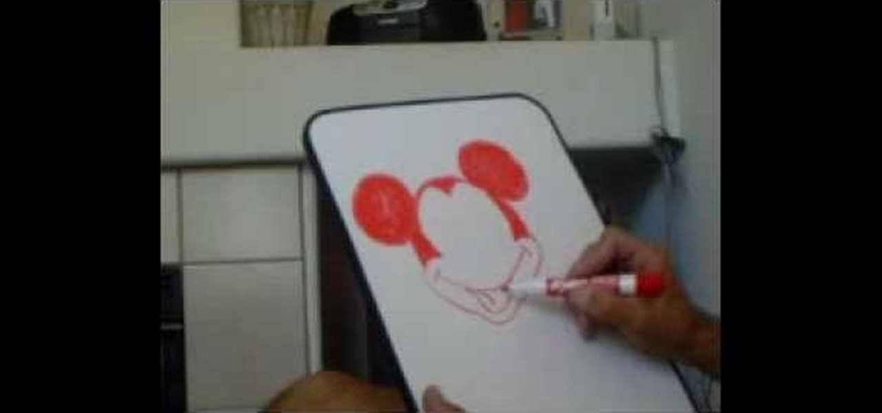 How to draw mickey mouse on a dry erase board drawing for Cool stuff to draw on a whiteboard