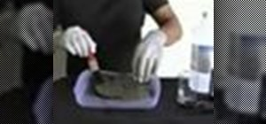 Etch an iron meteorite