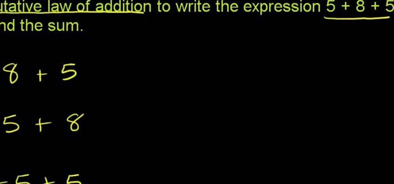 How to Solve math problems with the commutative law of addition ...