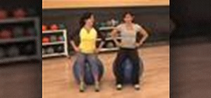 Do warm up exercises on a stability ball