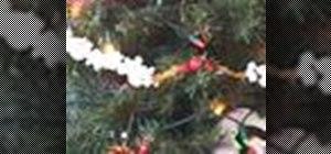 String a Christmas popcorn garland