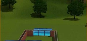 Build a pool window for your Sims 3 house