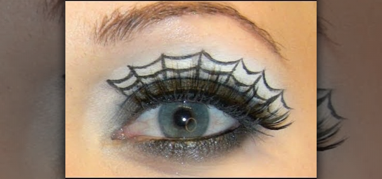 How to Create a spiderweb eye makeup look for Halloween « Makeup ...