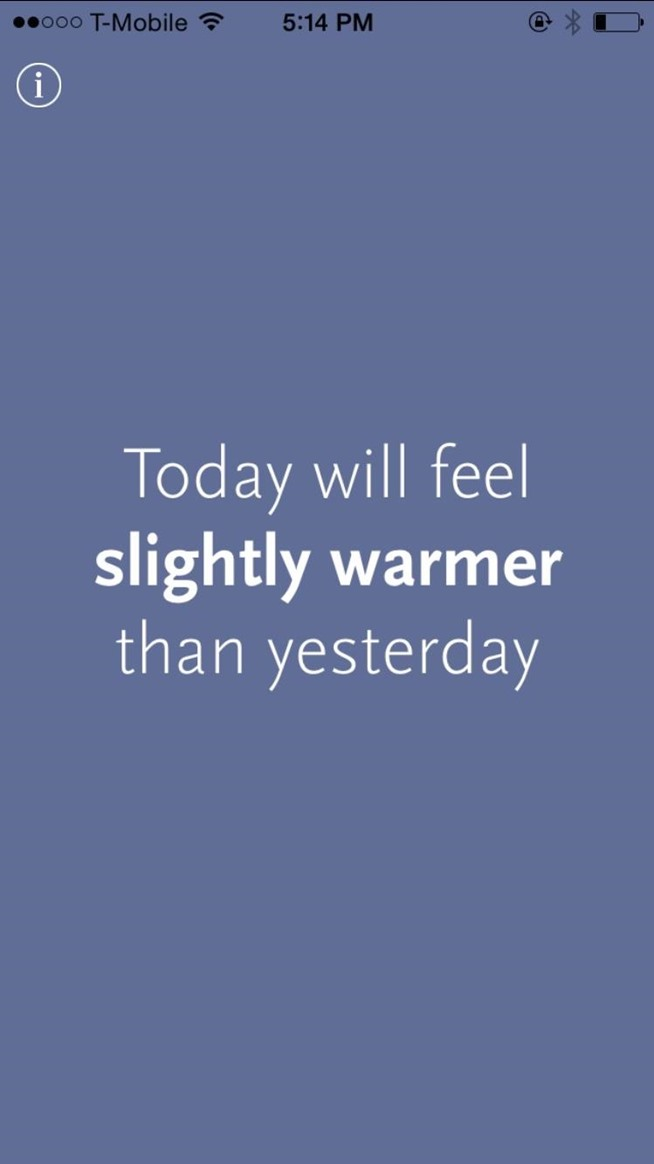 Thermo Diem Tells You How the Weather Feels Today as Compared to Yesterday