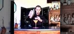 Mix an apricot-tini apricot martini coktail