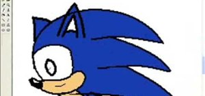 Draw Sonic the Hedgehog in Paint