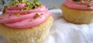 Rosewater Pistachio Cupcakes