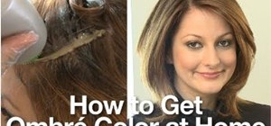 Dye your hair in an ombre shade at home
