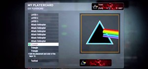 Draw the Dark Side of the Moon album cover in the Black Ops emblem editor