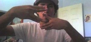 Do a cool diagonal finger tutting combo
