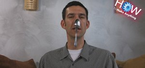 Hang a spoon on your nose
