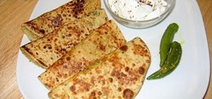 Cook Indian style gobi paratha with cauliflower