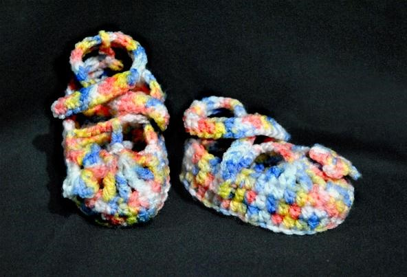 my crochet shoes for my daughter.