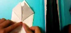 Make a paper origami frog