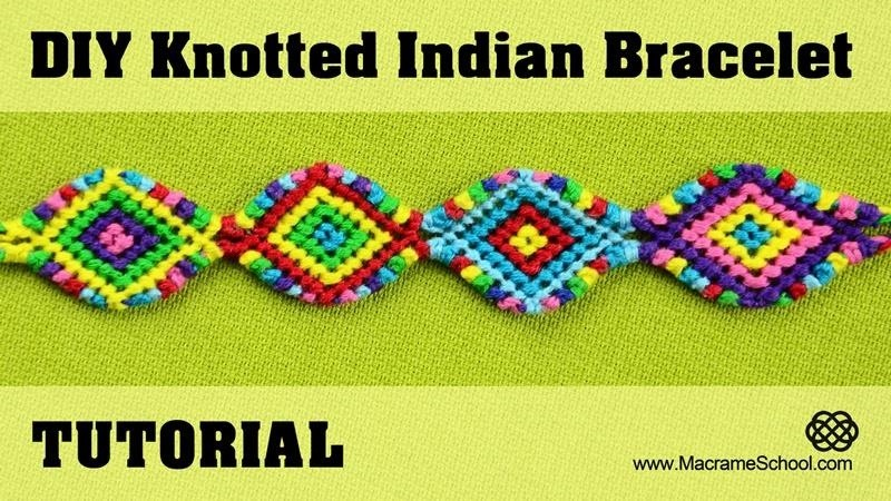 Knotted Indian Bracelet Tutorial