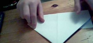 Fold a floating paper boat