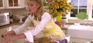 Make crab salad with mango salsa with Sandra Lee
