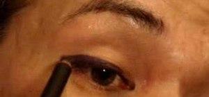 Make eyeliner stencils