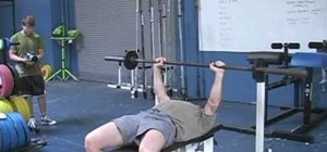 Position yourself for the bench press