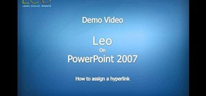 Add a hyperlink into a PowerPoint document using Leo from Kryon Systems