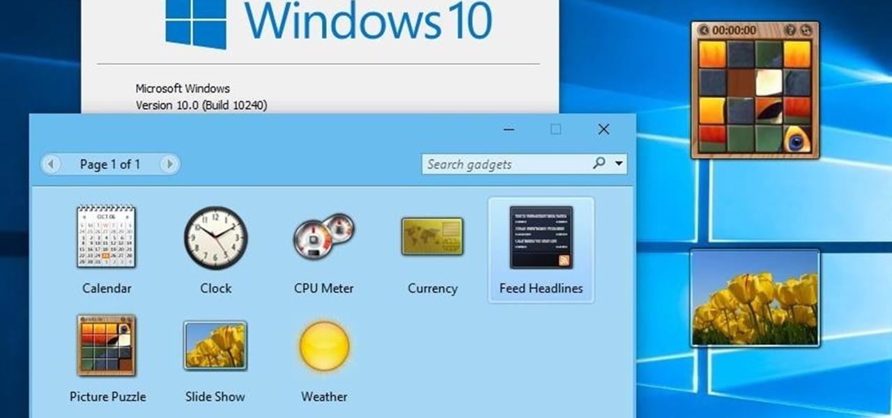 How To Bring Desktop Gadgets To Windows 10 171 Windows Tips