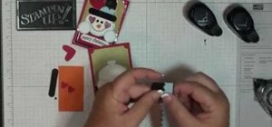 Make a snowman magnet with Stampin' Up!