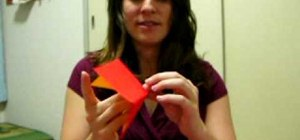 Fold an erupting origami volcano