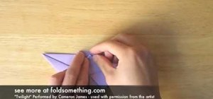 Fold an origami paper bat
