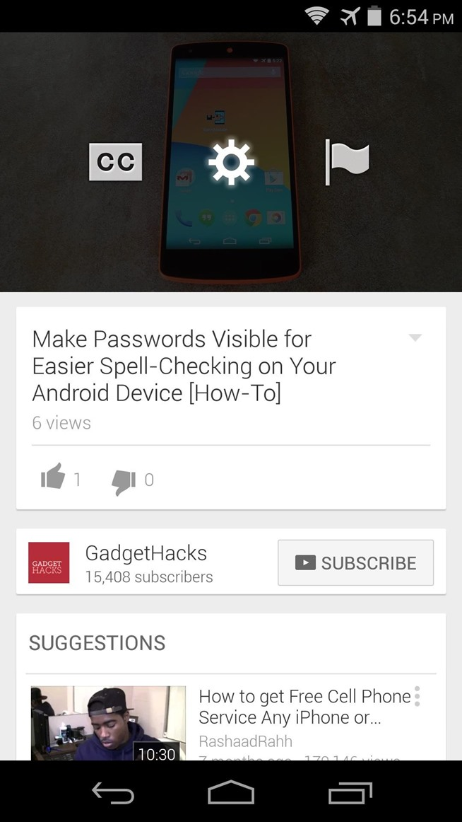 How to Watch 1080p YouTube Videos on a Nexus 5 or Nexus 7