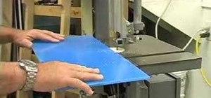 Cut a plastic sheet