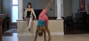 Perform an impressive handstand press in gymnastics (for kids)