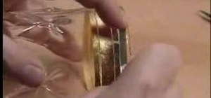 Apply gold leaf to glass