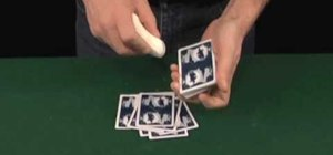 Soap a deck of cards to spread more easily