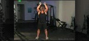 Do dumbbell clean and press